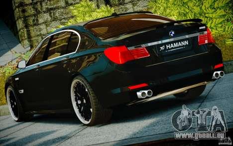 Bmw 750li Hamann pour GTA 4 est une vue de l'intérieur