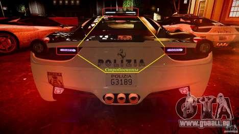 Ferrari 458 Italia - Brazilian Police [ELS] pour GTA 4 roues