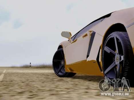 Lamborghini Aventador LP700-4 Vossen für GTA San Andreas rechten Ansicht