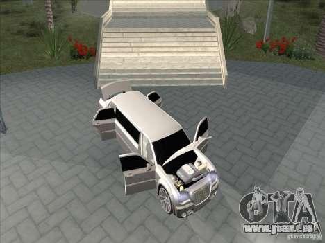 Chrysler 300C Limo für GTA San Andreas Innenansicht