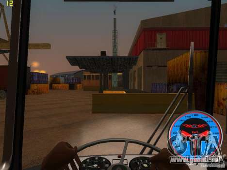 Trolleybus LAZ-52522 für GTA San Andreas Innenansicht