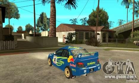 Subaru Impreza STi WRC wht2 für GTA San Andreas Rückansicht