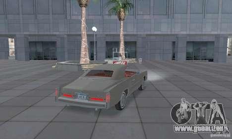 Cadillac Eldorado Convertible 1976 für GTA San Andreas zurück linke Ansicht