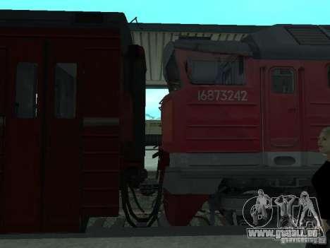 2te116 RZD pour GTA San Andreas vue de droite