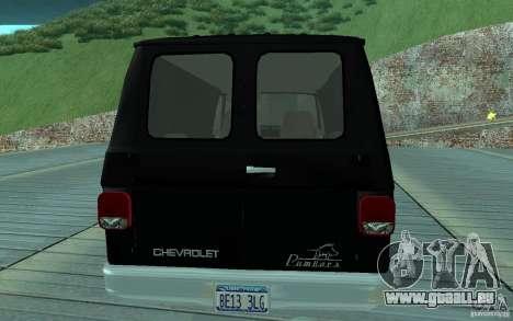Chevrolet Van G20 1986 v2.0 für GTA San Andreas rechten Ansicht