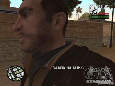 Niko Bellic für GTA San Andreas fünften Screenshot