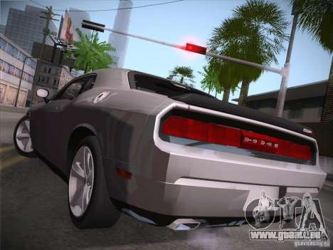 Dodge Challenger SRT8 v1.0 pour GTA San Andreas sur la vue arrière gauche