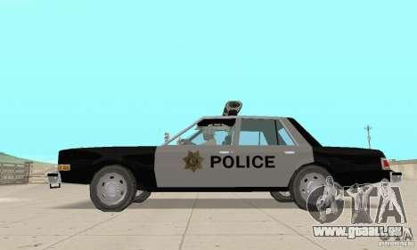 Dodge Diplomat 1985 Police pour GTA San Andreas vue de droite