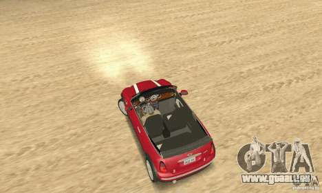 Mini Cooper Convertible pour GTA San Andreas sur la vue arrière gauche