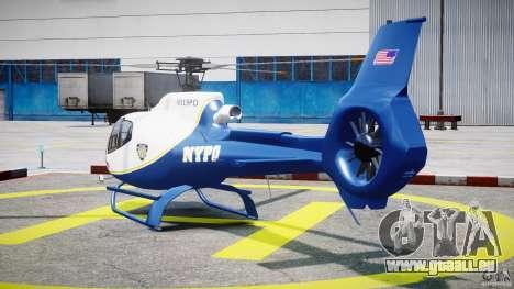 Eurocopter EC 130 NYPD für GTA 4 hinten links Ansicht