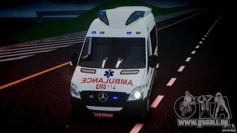 Mercedes-Benz Sprinter Iranian Ambulance [ELS] pour GTA 4 vue de dessus