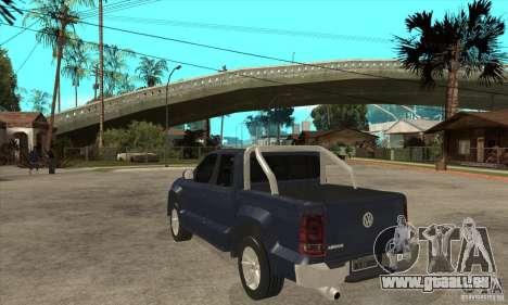 Volkswagen Amarok 2010 pour GTA San Andreas sur la vue arrière gauche