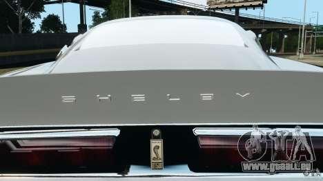 Shelby GT 500 Eleanor für GTA 4 Innen