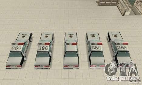 Dodge Diplomat 1985 Police pour GTA San Andreas vue intérieure