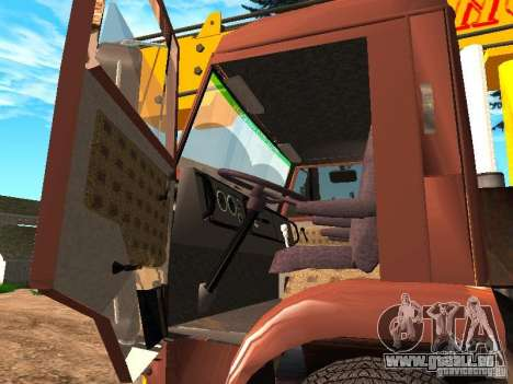 KAMAZ 6520 KS3577-3 k Ivanovets pour GTA San Andreas vue intérieure