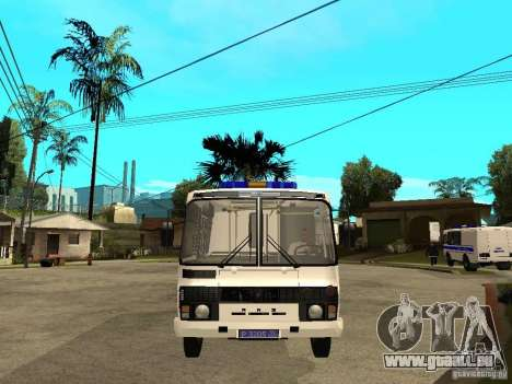 PAZ-3205-Polizei für GTA San Andreas rechten Ansicht