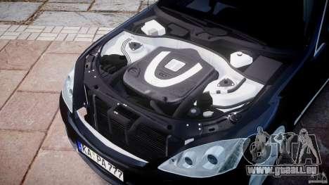 Mercedes-Benz S600 w221 pour GTA 4 est une vue de l'intérieur