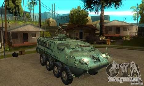 Stryker für GTA San Andreas Rückansicht