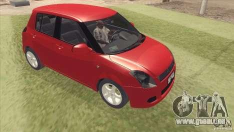 Suzuki Swift Versión Chilena für GTA San Andreas zurück linke Ansicht