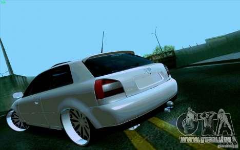Audi A3 DUB Edition pour GTA San Andreas laissé vue