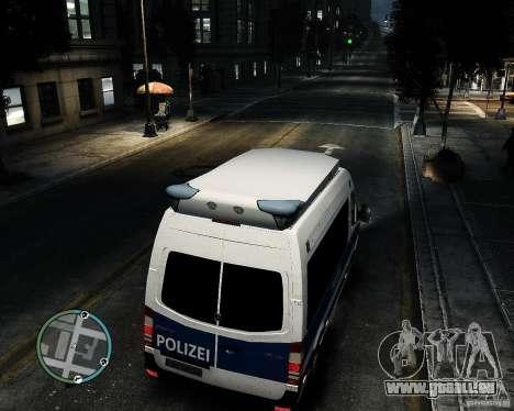 Mercedes Sprinter German Police für GTA 4 Rückansicht