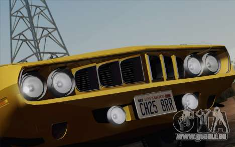 Plymouth Hemi Cuda 426 1971 pour GTA San Andreas salon