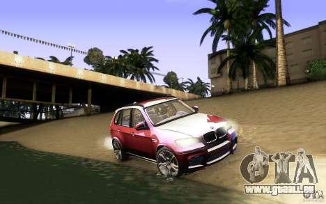BMW X5M  2011 für GTA San Andreas Unteransicht