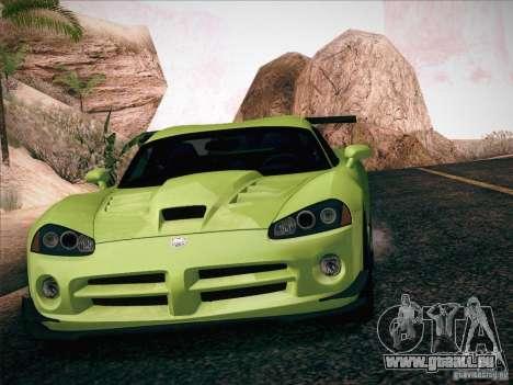 Dodge Viper SRT-10 ACR pour GTA San Andreas salon