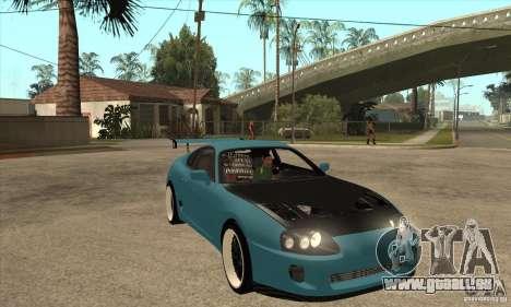 Toyota Supra Tuned für GTA San Andreas Rückansicht