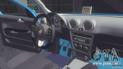 Volkswagen Voyage G6 2013 pour GTA San Andreas vue de droite