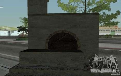 Poêle pour GTA San Andreas sur la vue arrière gauche