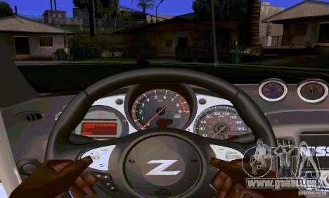Nissan 370Z für GTA San Andreas Innen
