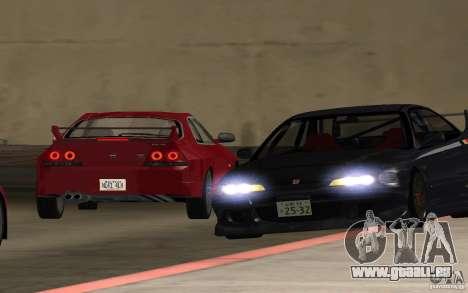 Honda Integra Type R für GTA San Andreas Innenansicht