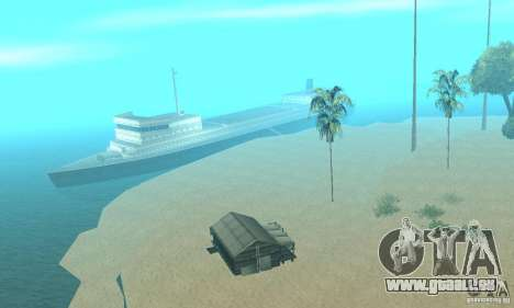 Lost Island pour GTA San Andreas deuxième écran