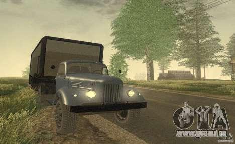 ZIL 164 tracteur pour GTA San Andreas sur la vue arrière gauche