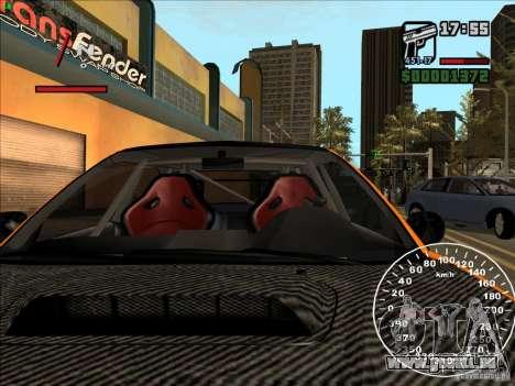Subaru Impreza WRX Sti 2006 Elemental Attack pour GTA San Andreas vue de dessus