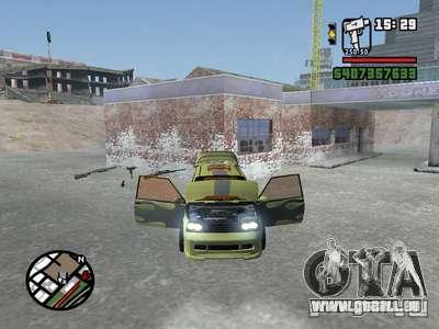 1111 OKA (tuning) pour GTA San Andreas laissé vue