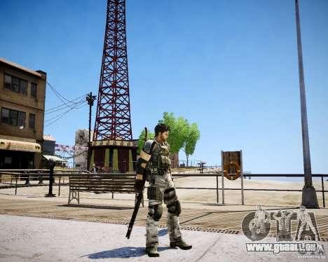 Chris from Resident Evil 5 pour GTA 4 quatrième écran