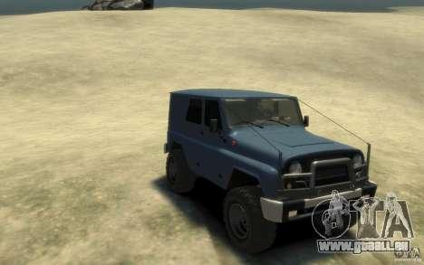 UAZ Hunter final pour GTA 4 Vue arrière