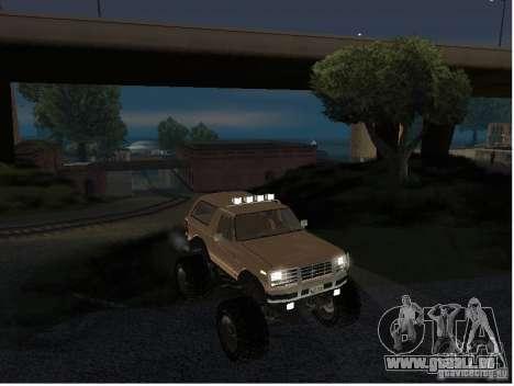 Ford Bronco IV Monster pour GTA San Andreas vue de droite