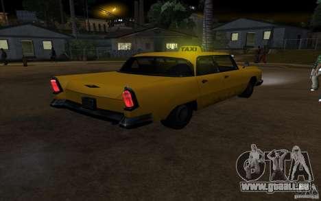 Oceanic Cab pour GTA San Andreas vue intérieure
