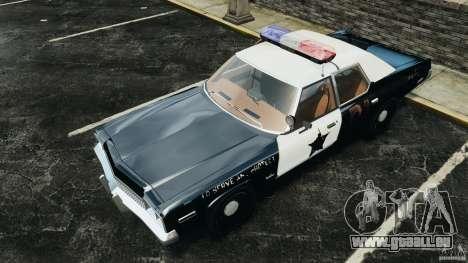 Dodge Monaco 1974 Police v1.0 [ELS] pour GTA 4 Salon