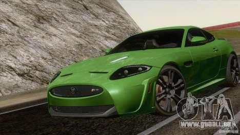Jaguar XKR-S 2011 V1.0 pour GTA San Andreas sur la vue arrière gauche
