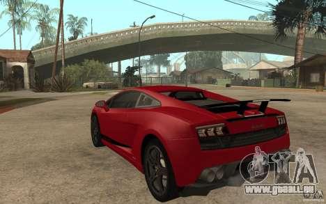 Lamborghini Gallardo LP 570 4 Superleggera für GTA San Andreas zurück linke Ansicht