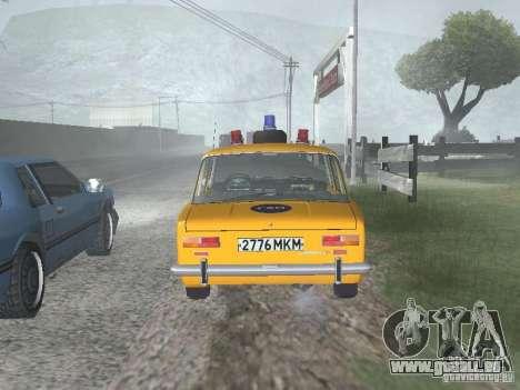 POLICE DE LA CIRCULATION VAZ 21016 pour GTA San Andreas vue de droite