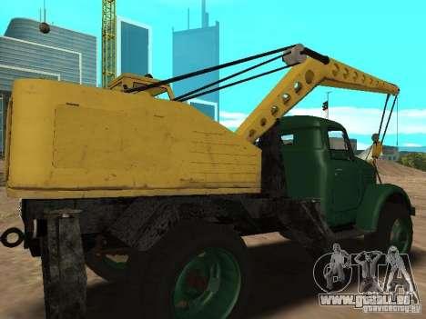GAZ 51 grue mobile pour GTA San Andreas vue de droite