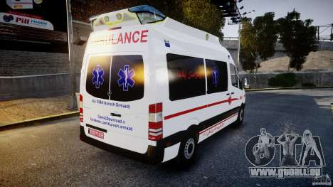 Mercedes-Benz Sprinter Iranian Ambulance [ELS] pour GTA 4 est un côté