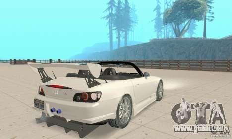 Honda S2000 Cabrio West Tuning pour GTA San Andreas laissé vue