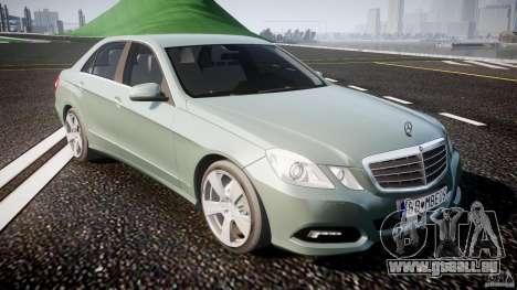 Mercedes-Benz E63 2010 AMG v.1.0 pour GTA 4 est une vue de l'intérieur