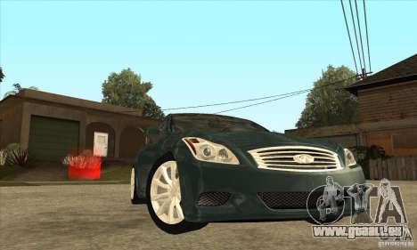 Infiniti G37 Coupe Sport für GTA San Andreas Seitenansicht